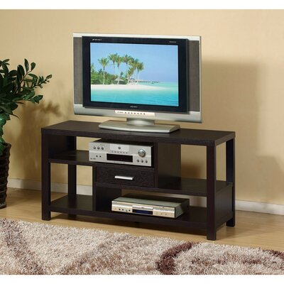 Dollinger Zig Zag Storage Prepossessing 47.25 TV Stand Color: Brown Cocoa