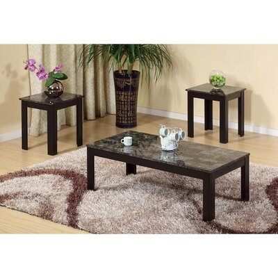 Chateaugay Splendid Traditional Style 3 Piece Coffee Table Set