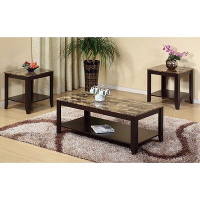 Schoemann Enchanting Spacious 3 Piece Coffee Table Set