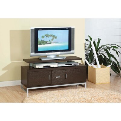 Donley Stylish 47.25 TV Stand with Chrome Legs