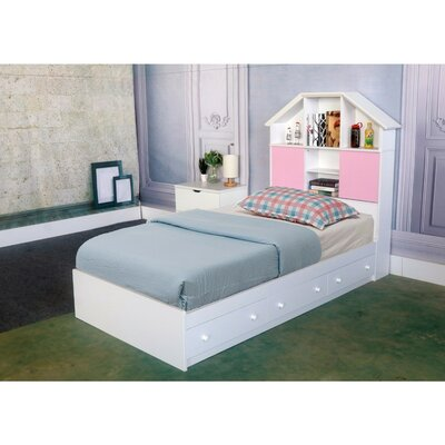 Beckner Luxurious Chest Queen Platform Bed with 3 Storage Drawers