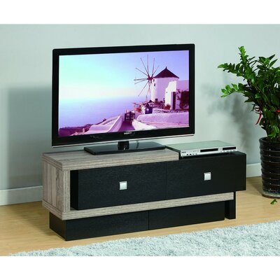 Drews Aesthetic 50 TV Stand with Two Metal Glide Drawers