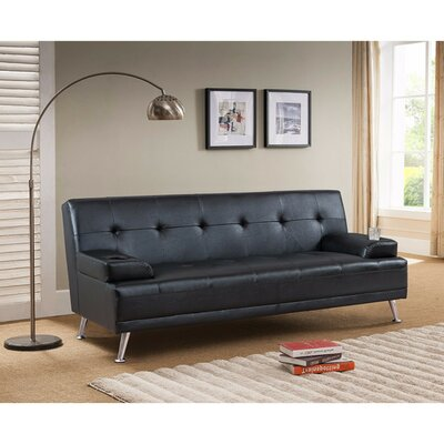 Pantano Contemporary Style Sofa Upholstery: Black
