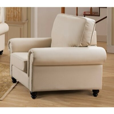 Arrowood PU Leather Armchair Upholstery: Cream