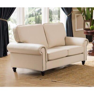 Arrowood Luxurious Loveseat Upholstery: Cream
