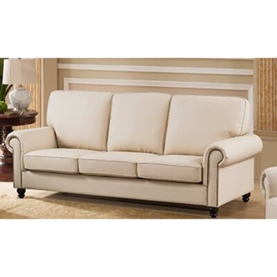 Arrowood Sofa with Back and Seat Cushion Upholstery: Cream