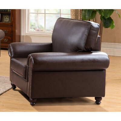 Arrowood PU Leather Armchair Upholstery: Brown