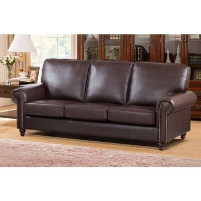Arrowood Sofa with Back and Seat Cushion Upholstery: Brown