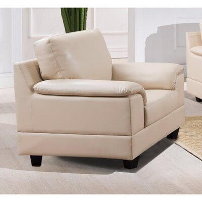 Driggers Contemporary PU Leather Armchair Upholstery: Cream