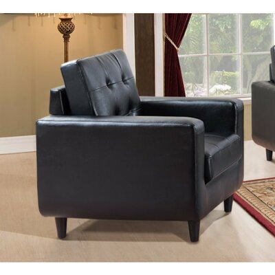 Drouin Contemporary Bonded PU Leather Armchair