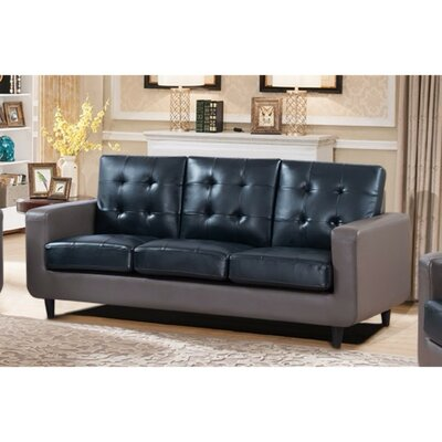 Drumheller Contemporary Sofa with Velvety Cushion