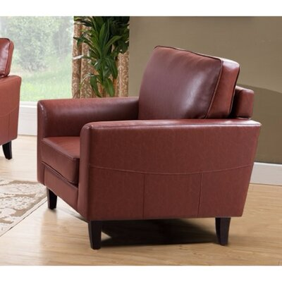 Kinnas Sophisticated PU Leather Armchair Upholstery: Brown