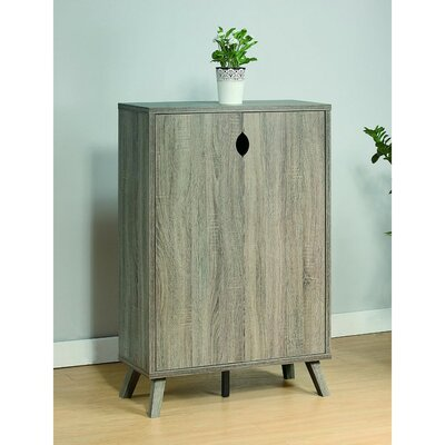 Roomy Shoe Storage Cabinet with Flared Legs