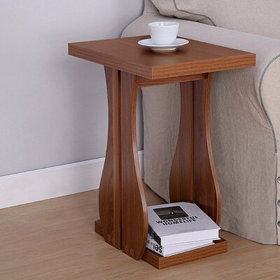 McNulty Enticing End Table with Base Shelf