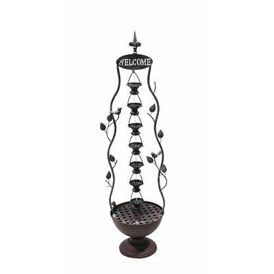 Iron 6 Hanging Cup Tier Layered Floor Fountain ALP-MAZ256