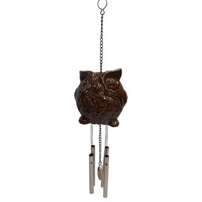 Ceramic Owl Wind Chime ALP-KLL110BR