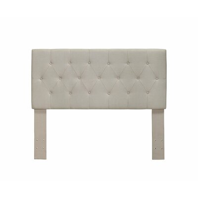 Cantor Upholstered Panel Headboard Size: Twin, Color: Ivory
