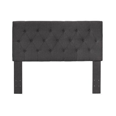 Cantor Upholstered Panel Headboard Size: Twin, Color: Gray