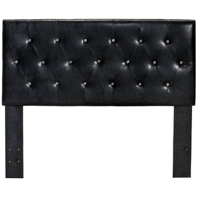 Ruhl Panel Upholstered Headboard Size: Queen, Color: Black