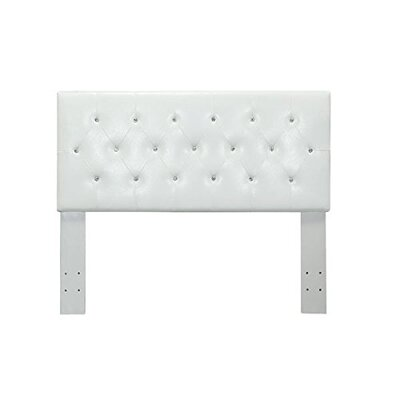 Ruhl Panel Upholstered Headboard Size: Twin, Color: White