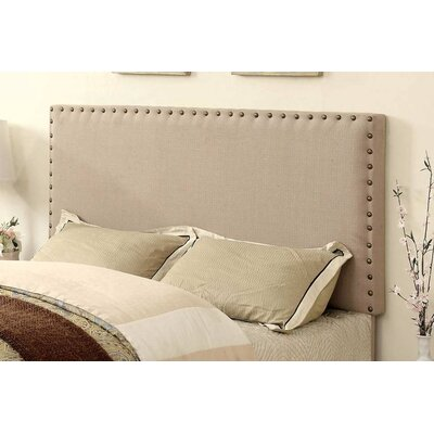 Fabio Panel Upholstered Headboard Size: Full/Queen, Color: Brown
