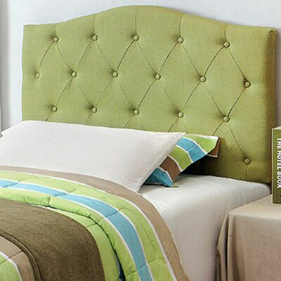 Caravelle Panel Headboard Size: Full/Queen, Color: Green