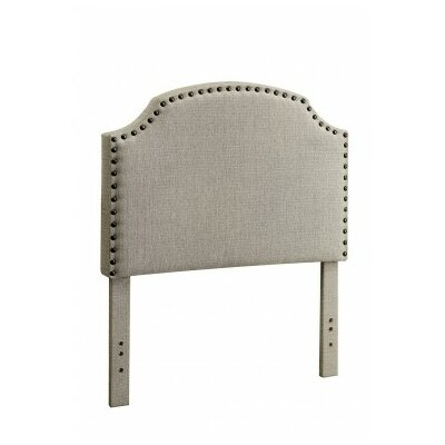 Ruggiero Upholstered Panel Headboard Size: Twin, Color: Light Gray