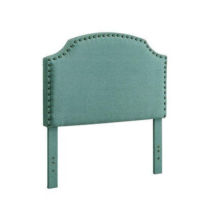 Ruggiero Upholstered Panel Headboard Size: Twin, Color: Blue