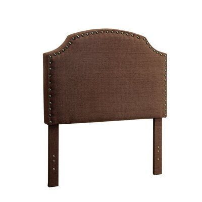 Ruggiero Upholstered Panel Headboard Size: Twin, Color: Brown