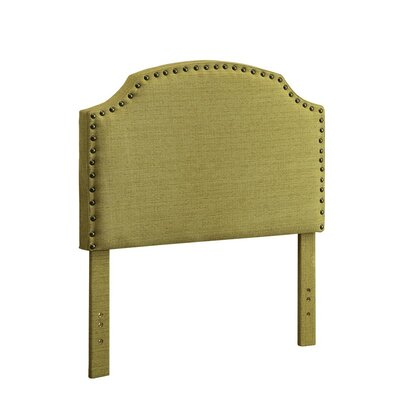 Ruggiero Upholstered Panel Headboard Size: Twin, Color: Green