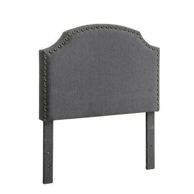 Ruggiero Upholstered Panel Headboard Size: King, Color: Gray