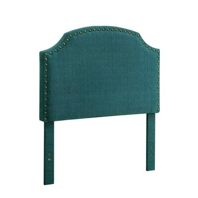 Ruggiero Upholstered Panel Headboard Size: Queen, Color: Dark Teal