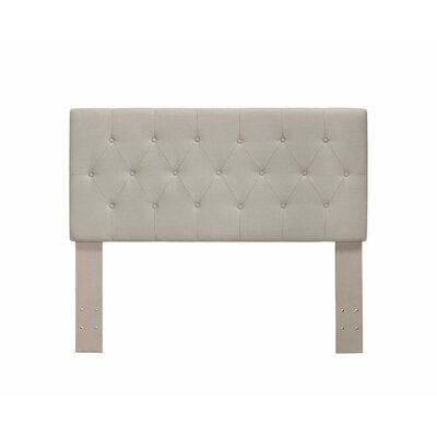 Cantor Upholstered Panel Headboard Size: Queen, Color: Ivory
