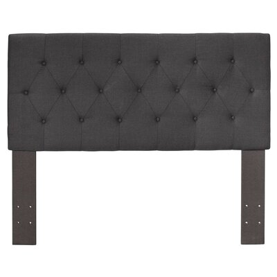 Cantor Upholstered Panel Headboard Size: Queen, Color: Gray