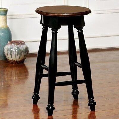 Bemelle 24 Bar Stool Color: Black/Cherry