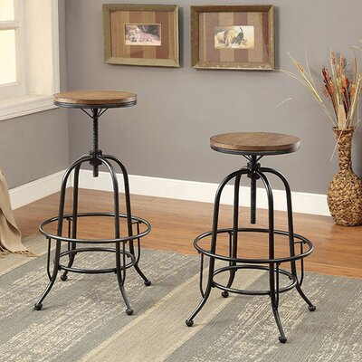 Weber Adjustable Height Backless Bar Stool