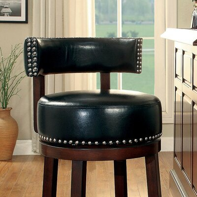 Amell 24 Bar Stool Upholstery: Black