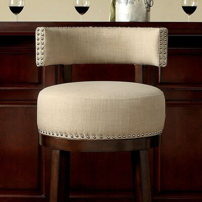 Ame 24 Bar Stool Upholstery: Dark Oak