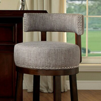 Ame 24 Bar Stool Upholstery: Gray
