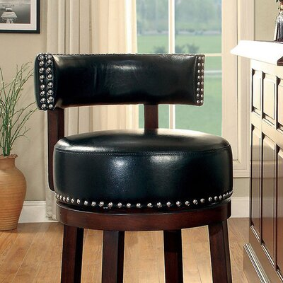 Amell 29 Swivel Bar Stool Upholstery: Black