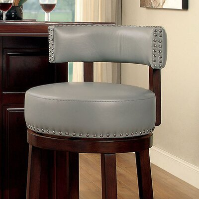 Amell 29 Swivel Bar Stool Upholstery: Gray