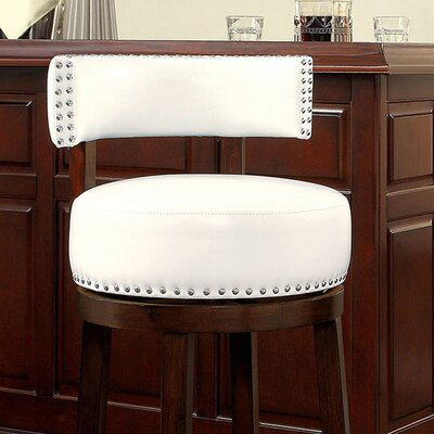 Amell 29 Swivel Bar Stool Upholstery: White