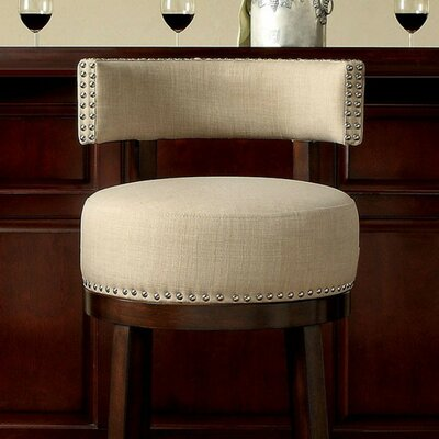 Ame 29 Swivel Bar Stool Upholstery: Beige