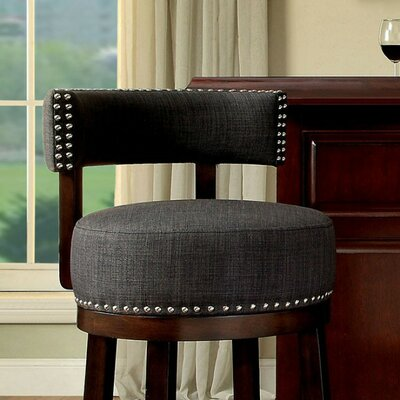 Ame 29 Swivel Bar Stool Upholstery: Dark Gray