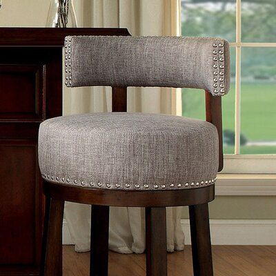 Ame 29 Swivel Bar Stool Upholstery: Gray