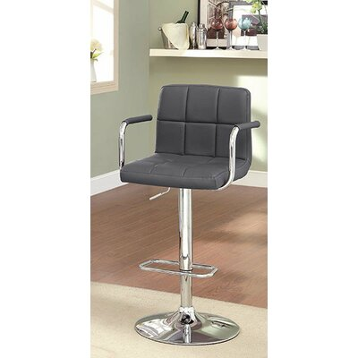 Mendon Adjustable Height Swivel Bar Stool Color: Gray