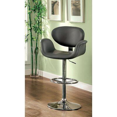 Menneken Adjustable Height Swivel Bar Stool Color: Gray