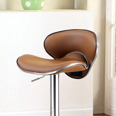 Mereworth Adjustable Height Bar Stool Seat Color: Camel