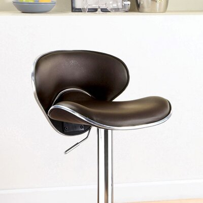 Mereworth Adjustable Height Bar Stool Seat Color: Dark Brown
