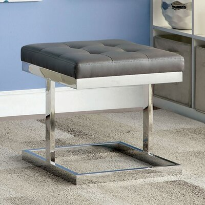 Melchior Contemporary Ottoman Upholstery: Gray